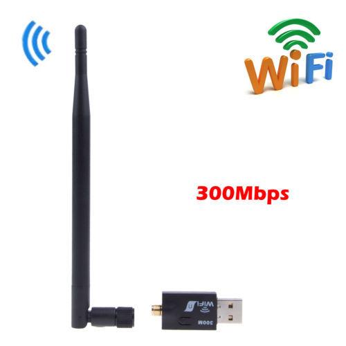 300Mbps 802.11n/g/b USB Wireless Wifi Wi Fi Wi-Fi Network LAN Dongle Adapter+External Antenna Laptop(China (Mainland))