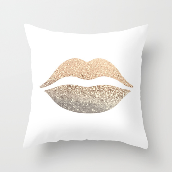 Diy Gold Throw Pillow : Decorative-Throw-Pillow-Case-Customized-Lip-Gold-Metallic-Cushion-Covers-Home-Decor-Polyester ...