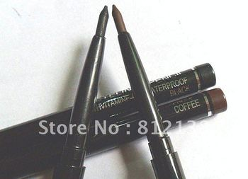 Free shipping 60pcs/lot M brand water- proof eye liner pencil,  HOT SELLING PRODUCT