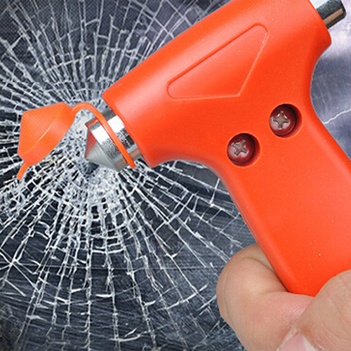 Hot 2 in 1 Car Glass Window Breaker Safety Escape Emergency Hammer Seat Belt Cutter(China (Mainland))