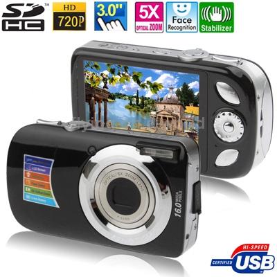 A620 Black, 5.0 MP 5X Zoom 3.0 inch TFT LCD Screen Digital Camera,Support SD Card,Max pixels: 16 Mega pixels Hot Sale(China (Mainland))