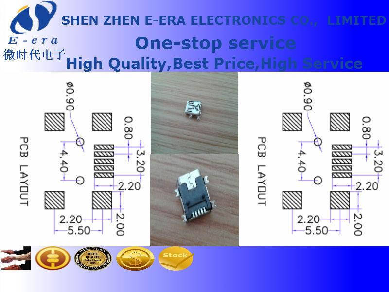 All Copper Full cover mini USB2.0 socket female mini usb 5pin ...