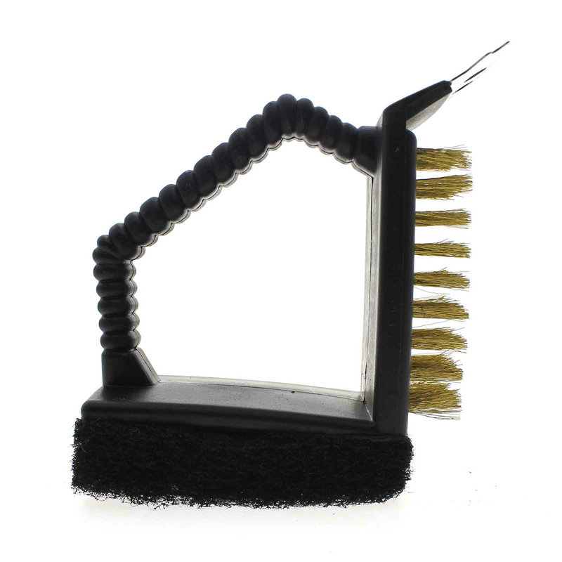 3 in 1 Steel Wire Barbecue Grill Cleaning Brush Cleaner Sponge Brusher(China (Mainland))
