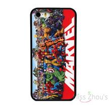 For iphone 4/4s 5/5s 5c SE 6/6s plus ipod touch 4/5/6 back skins mobile cellphone cases cover NEW MARVEL SUPERHEROES BLACK