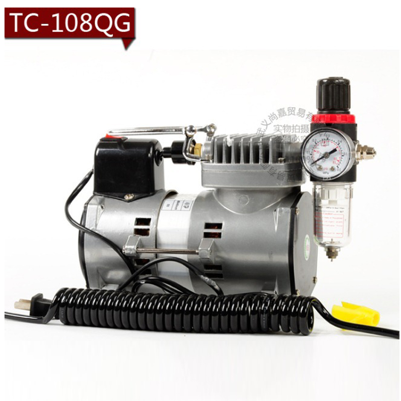 Фотография Professional Air Compressor for Airbrush body paint and makeup Air brush Spray power supply For Nail Tattoo Art