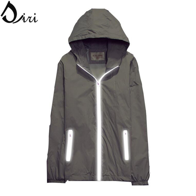 Spring Jackets And Coats Men Women Waterproof Unique Zippers Design Outdoor Running Sports Reflective Jacket For Youth Couples(China (Mainland))