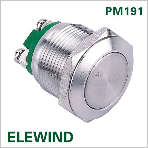 ELEWIND 19mm momentary stainless steel push button switch (PM191F-10/S)(China (Mainland))