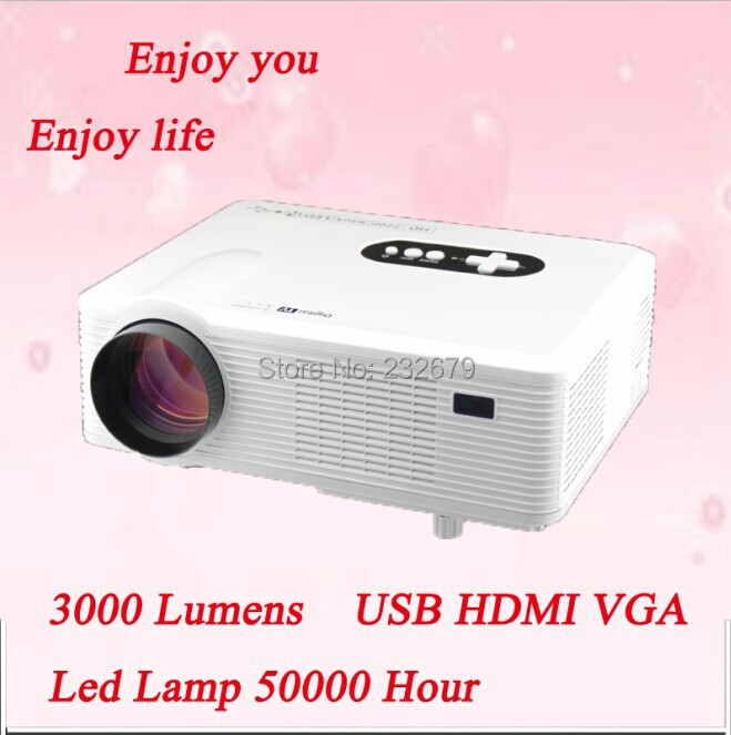 3000lumens portable home theater dvd video cheap projector with multimedia interface Factory Directly Selling !(China (Mainland))