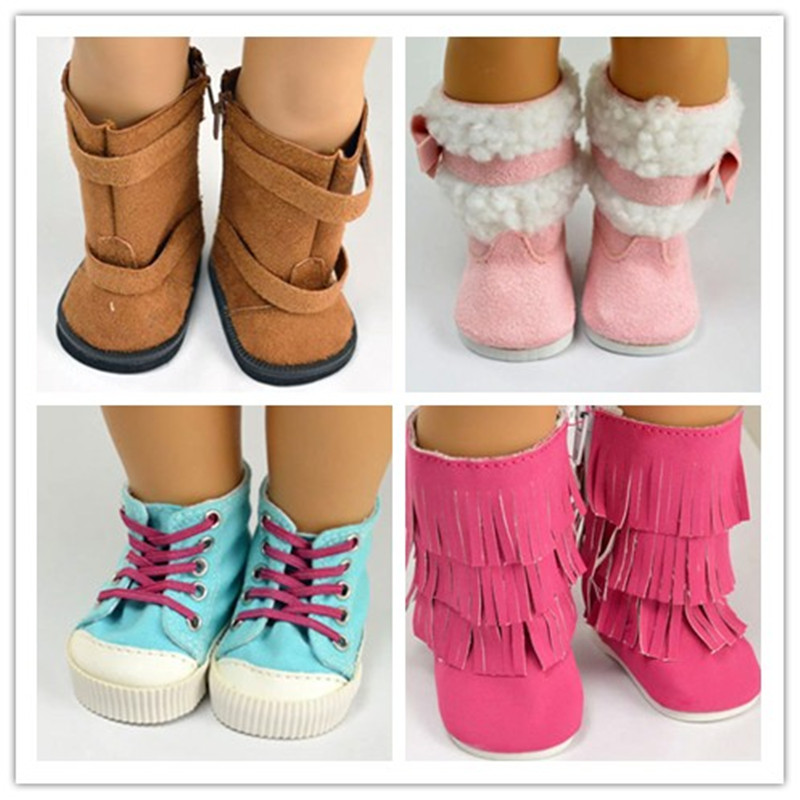 Гаджет  4 style Hot sell popular 18 inch American girl doll clothes and accessories lovely princess shoes boots None Игрушки и Хобби