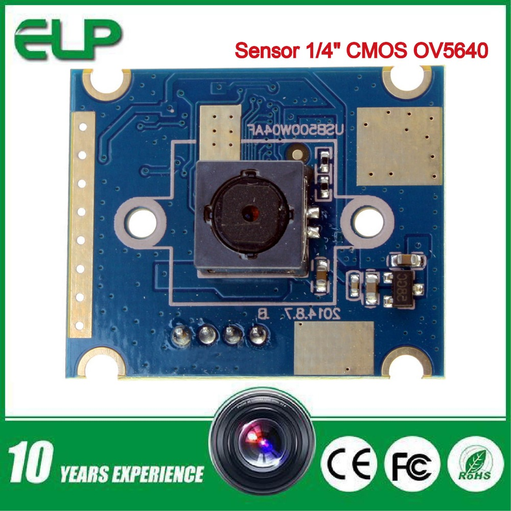 2PCS in package 5MP cmos ov5640 autofocus 60degree mini hd uvc webcam module usb camera android(China (Mainland))