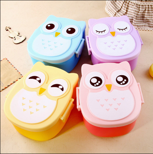 High Quality Cute Owl Double Layers Bento Lunch