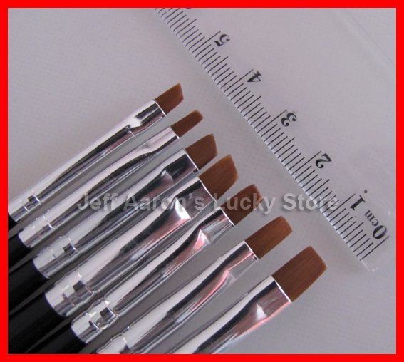 7 Sizes Professional Acrylic Nail Art Brush Set For Uv Gel Builder Nal Brushes Dropshipping In From Beauty Health On Aliexpress Alibaba
