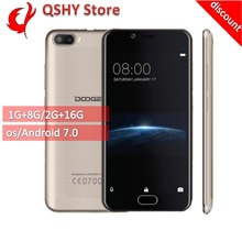"[discount]Doogee Shoot 2 Smartphone 3G 5.0"" HD Android 7.0 MT6580A Quad Core 1GB+8GB Dual Rear Cameras Fingerprint Mobile phone(China (Mainland))"