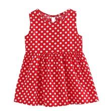 Детские платья, детское хлопковое и льняное платье без рукавов с цветочным принтом для девочек, весенне-летние платья для маленьких девочек(China)