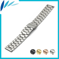 Stainless Steel Watch Band 18mm 20mm 22mm 23mm for Seiko Folding Clasp Strap Quick Release Loop