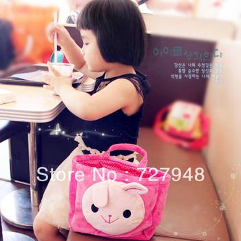 Cartoon child lunch bag  messenger bag/Cute/Pink. Yellow. Green/Discount sales, free shipping
