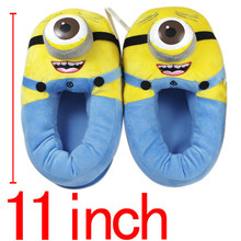 Anime Minion Despicable Me Cotton Slippers 3D Eyes Kevin Home Soft Plush Warm Winter Slippers Cosplay Indoor Shoes Stuffed Toys(China (Mainland))