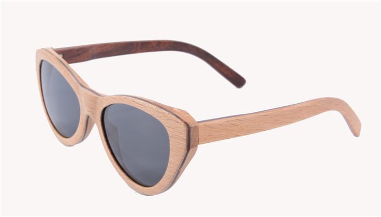 High Quality Women Brand Designer Sunglasses Fashion Cat Eye Sunglasses Wood Polarized Wayfarer Sun Glasses Occhiali Da Sole(China (Mainland))