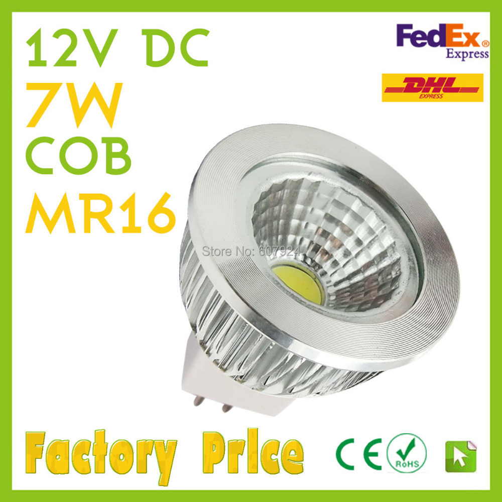 x6 MR16 Spots light 7W 10W 15W LED COB high power bulb Warm/Cool/Natural White 12VDC Quality assurance-1 year warranty(China (Mainland))