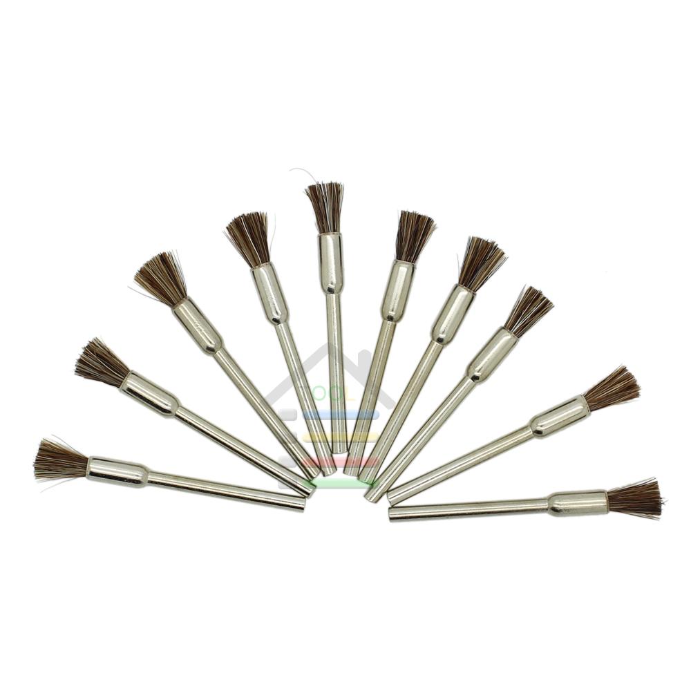 High Quality 50pc New Horse Hair Pen Brush Polishing Wheel 3mm Shank for Dremel Grinder Rotary Tools<br><br>Aliexpress