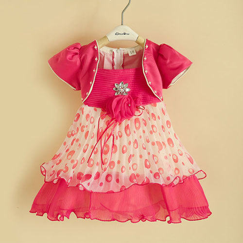 Baby girls meninas vestir fake two-piece chiffon dress clothes,children's / kids clothing vestidos mujer party princess dresses(China (Mainland))