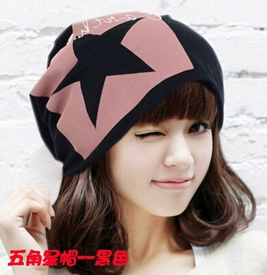 Casual Punk style Star Printing Free Shipping New Unisex Beanie Stacking Knitted Hat Slouch Hip hop One Size Cap Winter(China (Mainland))