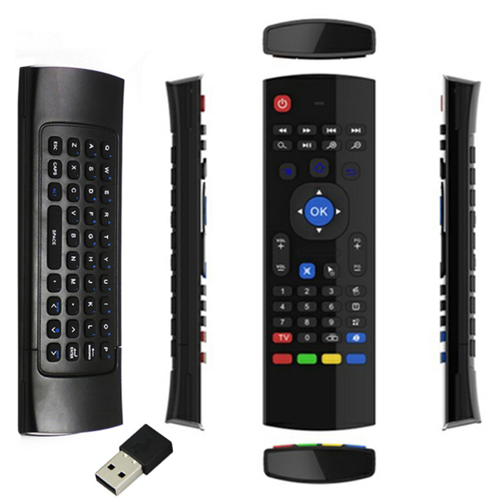 2015 Pro New 2.4G Wireless Remote Control Keyboard Fly Air Mouse with USB Receiver For XBMC Android TV Box Smart TV Wholesale(China (Mainland))
