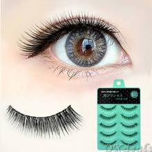 New 5 Pairs Short Cross False Eyelashes Daily Handmade Eye lashes Beauty Tool(China (Mainland))