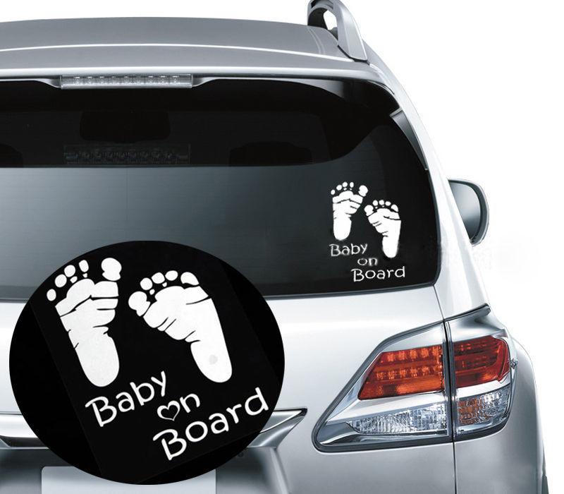 1X Kawaii Reflective Baby on Board Vinyl Car Graphics Window Vehicle Sticker Decal Auto DIY Car Sticker Car Styling Decoration(China (Mainland))
