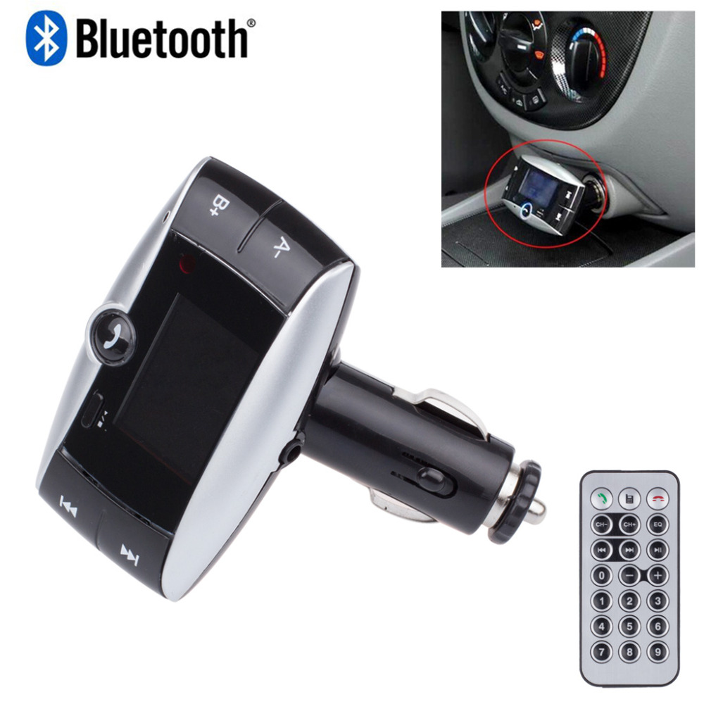 Car Bluetooth FM Transmitter Wireless MP3 Player HandsFree LCD Display FM Modulator Car Kit USB Charger With Remote(China (Mainland))