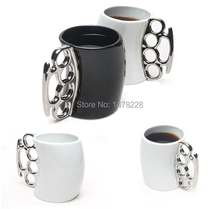 Fisticup Brass Knuckle Duster Handle Coffee Milk Ceramic Mug Cup Fist Cup Gift  B2C Shop