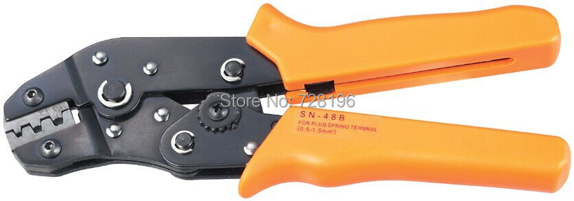 Free Shipping High Quality SN-48B Non-insulated tabs and receptacles Mini Eourpean Style Crimping Tools Wire Crimper Hand Plier