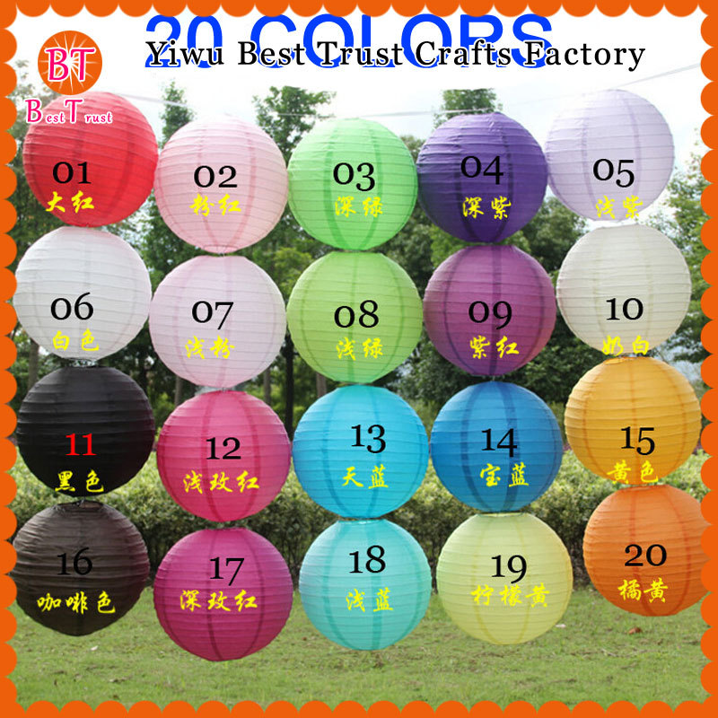 Paper Chinese Lanterns 1000 Pcs 10 inch 25 cm Round Paper Lanterns Wedding Decorations Hang Chinese Lanterns Lamp DIY Party Deco(China (Mainland))