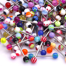 2015 1Set=30PCS Sexy Assorted Ball Mixed 361L Surgical Steel Tongue Nipple Bar Ring Barbell Body Jewelry Piercing Pop(China (Mainland))