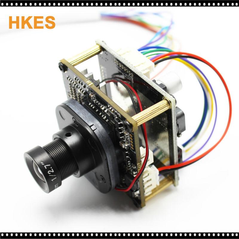High Resolution 25mm lens 1920*1080P 720P 960P HD POE IP camera module board LAN cable IRCUT ONVIF P2P
