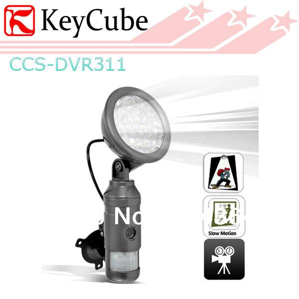 Motion Detection Auto Light Sensor Video/Audio DVR Camera Energy saving Night Vision Free Shipping(China (Mainland))