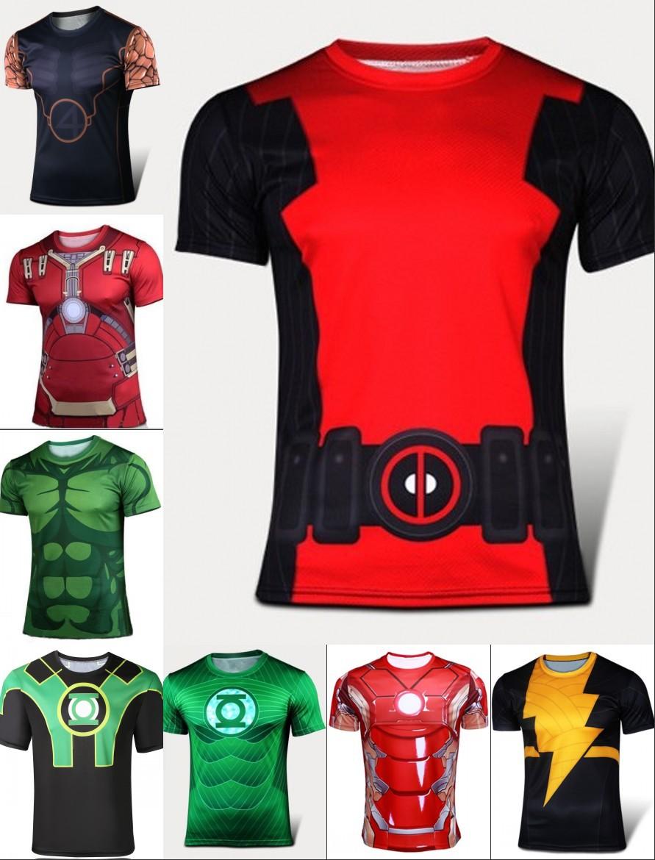 2015 Men Summer Compression T Shirt The Hulk 3D Printed men s short sleeve tights t