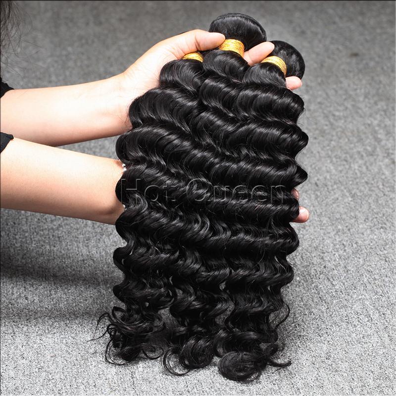 Brazilian Virgin Hair Weaves Brazilian Curly Virgin Hair Bundle Deals 100% Human Hair Extension Brazilian Deep Wave Curly 4 pcs <br><br>Aliexpress