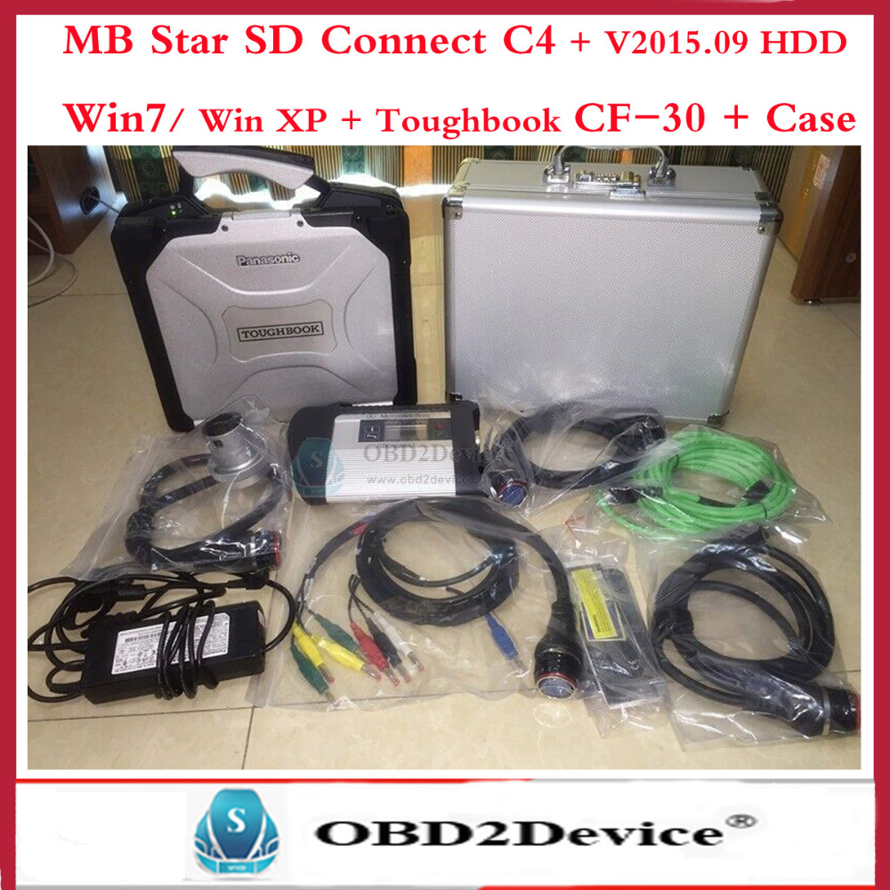 Top Quality mb Star diagnosis c4 with original CF-30 military laptop 2016.3 version with aluminum case for mb star c4 sd connect(China (Mainland))