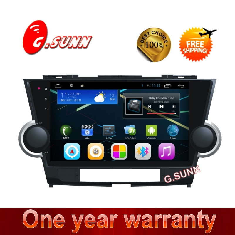 10.1 inch big full touch capative screen pure Android 4.2.2 car pc car computer pad for volkswagen Highlander(China (Mainland))
