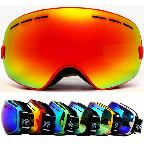 New genuine brand ski goggles double lens anti-fog big spherical professional ski glasses unisex multicolor snow goggles NCE33(China (Mainland))