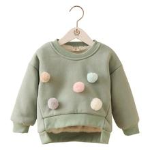 Boys/Girls Cotton Warm Fleece Inside Comfortable Pullover Outwear Children's Fashion Clothing Kids Wear Apparel(China (Mainland))