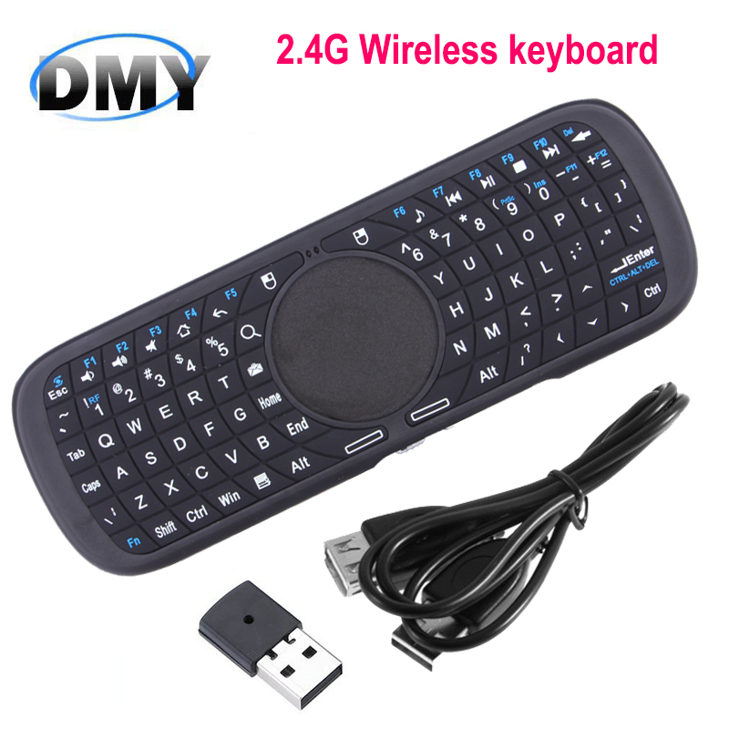 High Quality wireless Mini Silicone Buttons Touchpad QWERT Keyboard fly air mouse for IOS Windows Android tv box free shipping(China (Mainland))