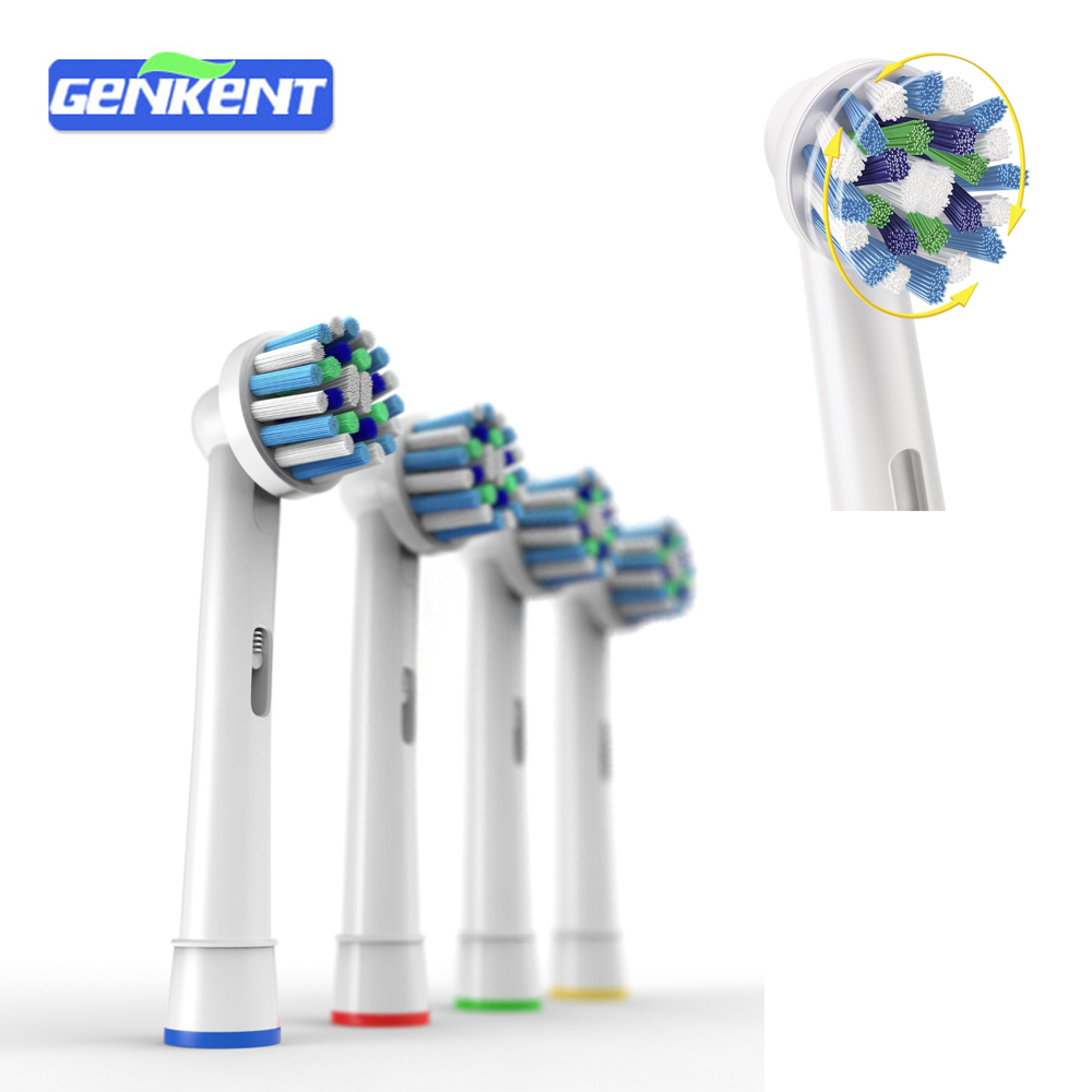 Adults Electric Automatic Rotating Tooth brush Heads Replacement for Oral Cross Action EB-50A Soft Toothbrushes Heads