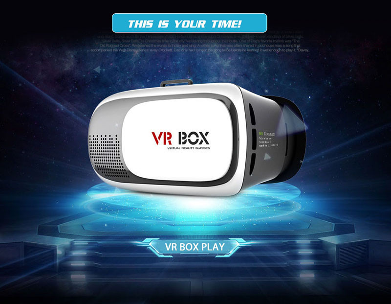 Hot Sale Google Cardboard VR BOX II 2.0 Version Virtual Reality 3D Glasses Game Movie 3D Glass For iPhone Android Mobile Phone