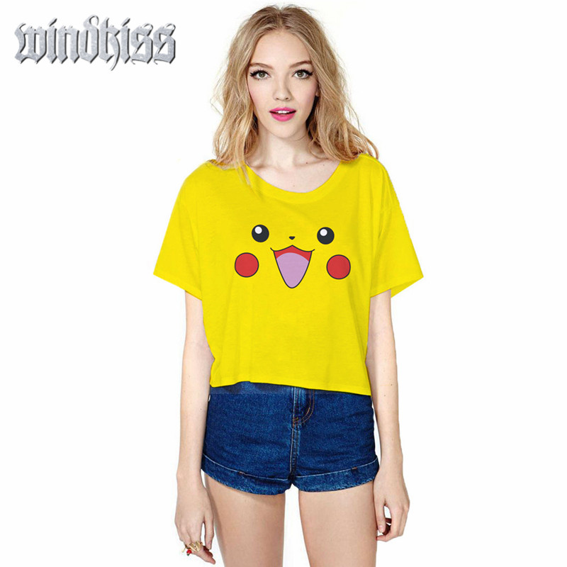 2016 summer fashion kawaii women font b pokemon b font font b go b font tops