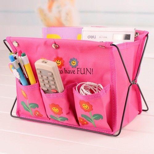 Storage Organizer Bag Fabric Foldable Make Up Cosmetic Pen Box Case(China (Mainland))