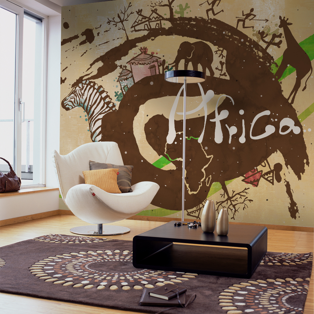 High quality modern desgin customization kids room nursery for African wall mural