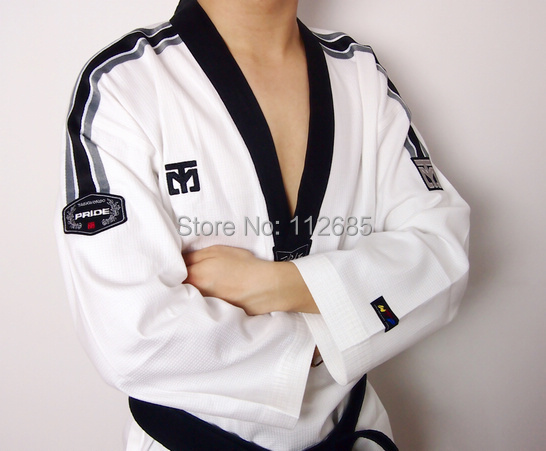 [Marias store] High Quality 1set Men WTF H-CDA Taekwondo Uniforms  Karate Dobok Tae Kwon Do Clothes MOOTO - Free Shipping<br><br>Aliexpress