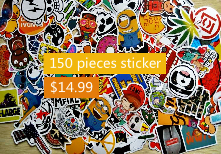 150Pcs Home decor jdm car sticker on car styling laptop sticker decal motorcycle skateboard doodle stickers for car accessories(China (Mainland))